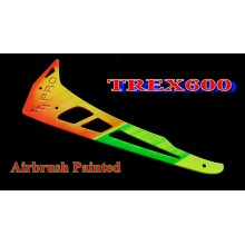 3Pro  Airbrush Painted  Vertical Fins For Trex 550/600  New!