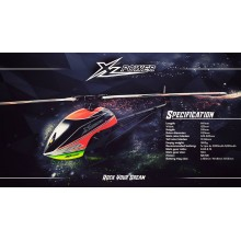 XLPower 520(With the motor)Flybarless 3D Helicopter Combo with Motor & Blades