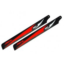 ZEAL Carbon Fiber Main Blades 350mm  Red ( B Grade )