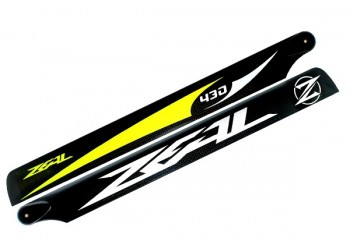 ZEAL Carbon Fiber Main Blades 430mm Yellow ( B Grade )