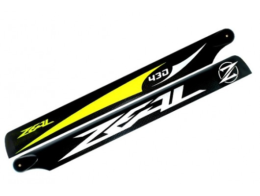 ZEAL Carbon Fiber Main Blades 430mm Yellow ( B Surface )