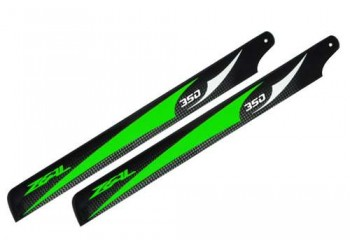 ZEAL Carbon Fiber Main Blades 350mm  Green ( B Grade )