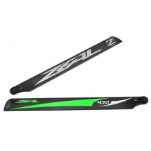 ZEAL Carbon Fiber Main Blades 430mm Green ( B Grade )