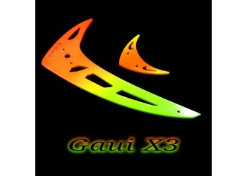 3Pro Neon Fusion Vertical/Horizontal Fins For Gaui X3  Type 2