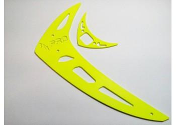 3Pro Neon Yellow Vertical/Horizontal Fins For Trex 450 Type 2