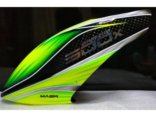 MaskPro Ultimate Airbrush Fiberglass Canopy For Align Trex 500X Dominator