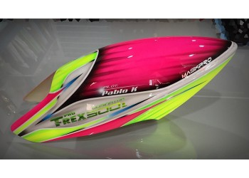 Custom MaskPro Airbrush Fiberglass Canopy For Align Trex 500L Dominator