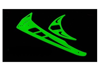 3Pro Neon Green Vertical/Horizontal Fins For Trex 550/600