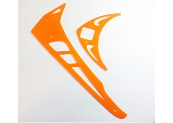 3Pro Neon Orange Vertical/Horizontal Fins For Trex 550/600