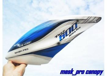 Custom MaskPro Airbrush Fiberglass Canopy For Align Trex 600 Nitro Pro