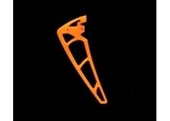 3Pro Neon Orange Vertical Fins For KDS Chase 360
