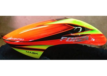 Custom  MaskPro Airbrush Fiberglass Canopy for Jr ForZa 450 EX