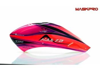 Custom  MaskPro Signature Airbrush Fiberglass Canopy KDS Agile 7.2