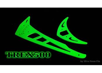 3Pro Neon Green Vertical/Horizontal Fins For Trex 500