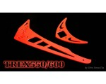 3Pro Neon Red Vertical/Horizontal Fins For Trex 550/600