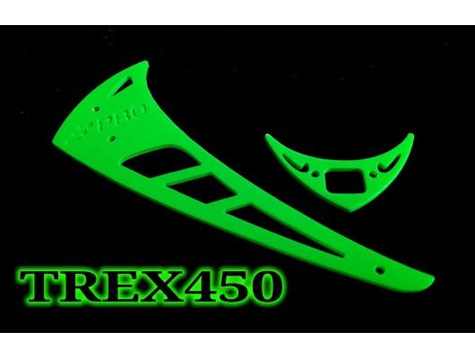 3Pro Neon Green Vertical/Horizontal Fins For Trex 450 Type 1