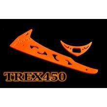 3Pro Neon Orange Vertical/Horizontal Fins For Trex 450 Type 4
