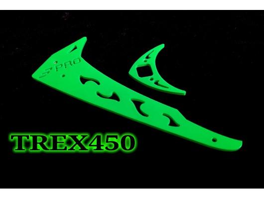 3Pro Neon Green Vertical/Horizontal Fins For Trex 450 Type 4