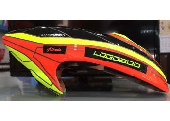 Custom MaskPro Airbrush Fiberglass Canopy For Mikado logo 600SX/SE