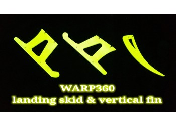 3Pro Neon Yellow Landing Skid &  Vertical Fins Set For Warp 360